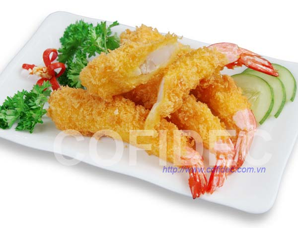 Breaded PTO Shrimp - Yellow color - Curved shape