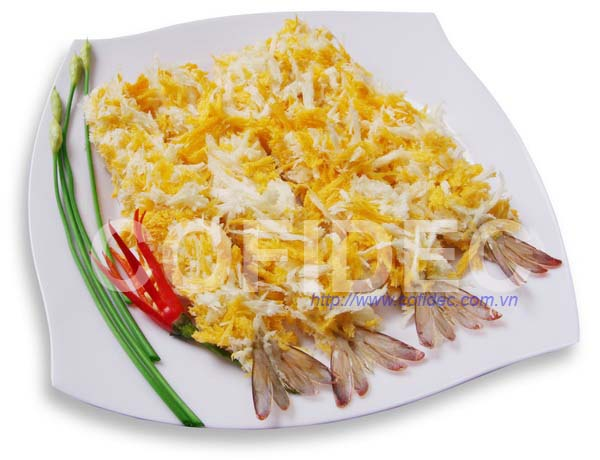 Breaded PTO Shrimp - Yellow & White color - Straight shape