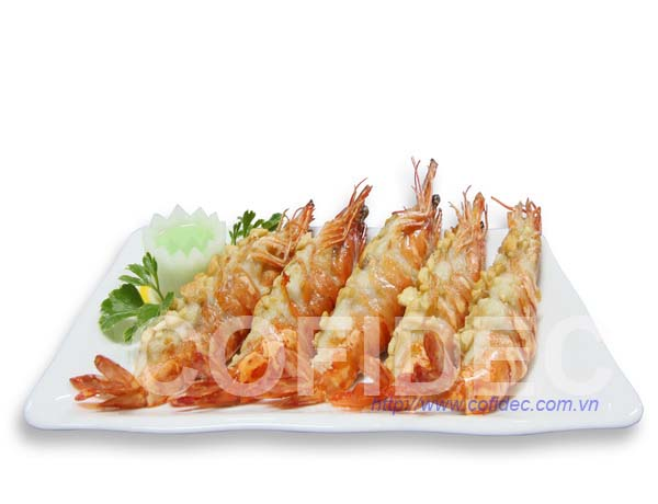Black Tiger  HOSO Shrimp with Cashew Nut