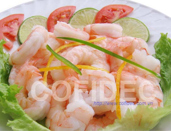 Cooked PD shrimp