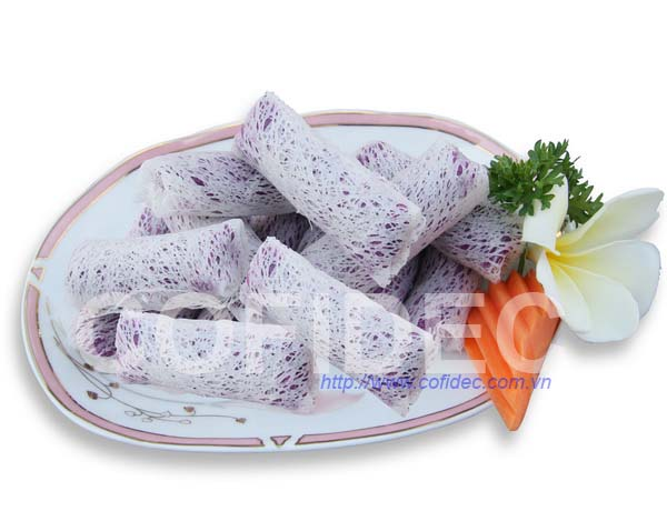 Purple Sweet Potato Net Rice Paper Spring roll