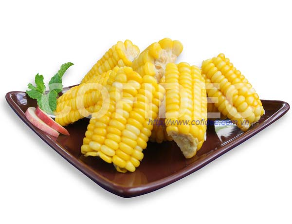 Boiled Sweet Corn cut