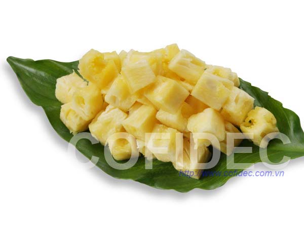 Pineapple Dice cut