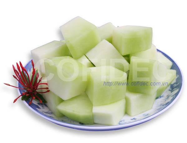 Green Net Melon Randon cut